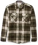 Wrangler Authentics Men's Long Sleeve Plaid Fleece Shirt, Grape Leaf Buffalo, 2X-Large