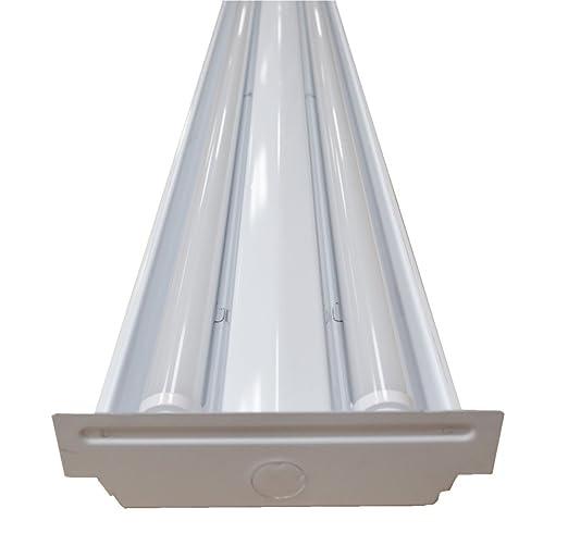 White Modern 4 ft. 48 Watt Low Profile Wraparound Flush Mount 2 ...