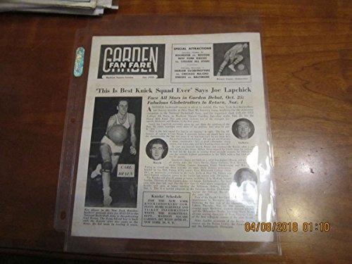 Oct. 1952 Boston Celtics Garden Fan Fare Carl Braun newsletter ()