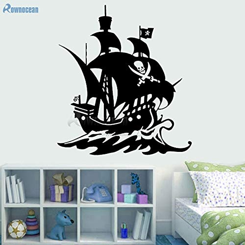Decoración náutica para el hogar Barco Pirata Tatuajes de Pared ...