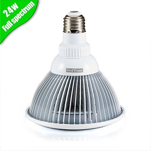 Swiftrans led grow light bulb 24w plant grow light with for Indoor gardening light bulbs