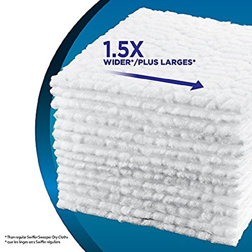 Swiffer Sweeper XL Dry Sweeping Pad Refills for Floor mop Unscented 16 Count (Pack of 6) by Swiffer (Image #5)