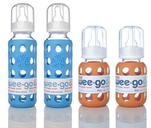 オープニング 大放出セール Lifefactory Bpa-free Blue-4 Glass Sleeve, Baby Bottles w Baby/ Silicone Sleeve, 9oz Orange and 4 Oz Sky Blue-4 Pack by Lifefactory [並行輸入品] B01AKZM3P4, ハットウチョウ:e03718a8 --- a0267596.xsph.ru