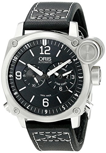 Oris Men's 690 7615 4164 LS BC4 Flight Timer Analog Display Automatic Self Wind Black Watch