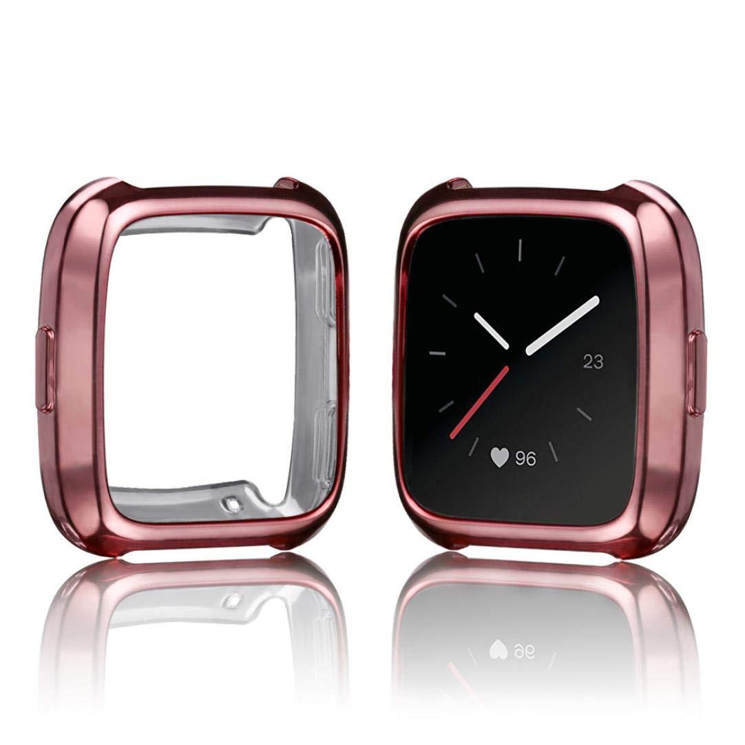 ... TPU de Recubrimiento Suave Funda Protectora de Silicona para Fitbit Versa Fundas Protector de Carcasa Reloj (Oro Rosa): Amazon.es: Deportes y aire libre