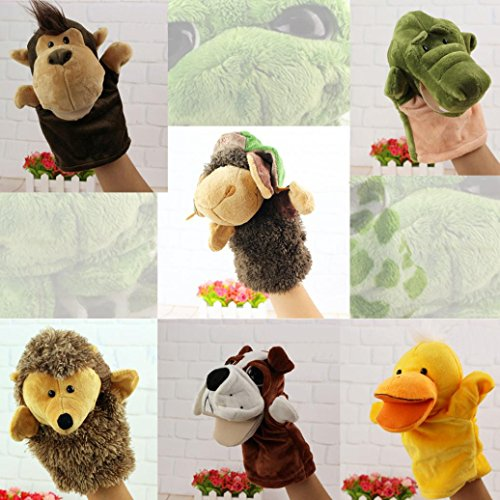 Puppet Donkey (Hand Puppet,Cute Cartoon Animal Doll Kids Glove Hand Puppet Soft Plush Toys Story Telling - Dog,Duck,Hedgehog,Crocodile,Orangutan,Donkey (Donkey, Animal hand puppet))