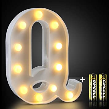 Amazon.com: DEKIRU LED Marquee Letter Lights, 26 letras de ...