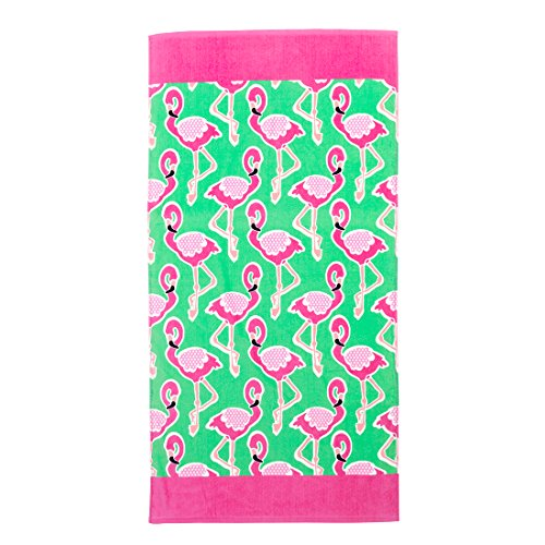 VIV & LOU High Fashion Print Beach Towel can be Personalized or Monogrammed ()