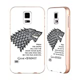 Official HBO Game Of Thrones White Winds Graphics Gold Aluminum Bumper Slider Case for Samsung Galaxy S5 / S5 Neo