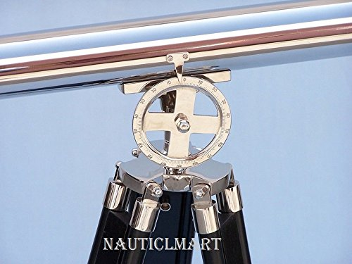 Nauticalmart Floor Standing Chrome Griffith Astro Telescope 40'' with 64'' height by NAUTICALMART