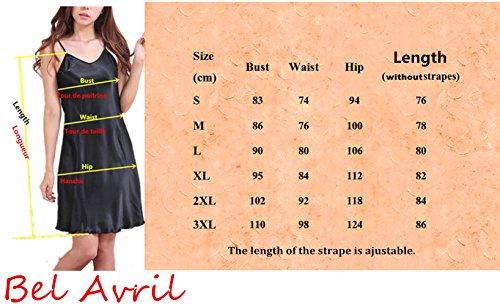Taglie Camicia da Semplice Notte S Raso Donna Avril XXXL da delle a Pigiameria Fucsia Donne Bel PHcvwqEq