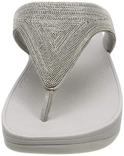Argento Shimmermesh Lottie 011 Infradito silver Fitflop Donna 5I67gwwq