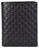 Gucci Men's Leather Micro GG Guccissima Vertical Bifold Wallet (Black...
