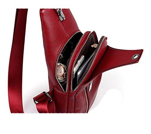 LAIDAYE Damenmode Schulter Messenger Tasche Brust 2 sXPOAAxGOK