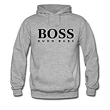 Men's Hugo Boss Kangaroo Front Pocket Hooded Sweatshirt Grey