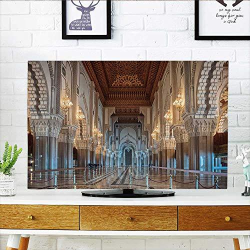 Philiphome Front Flip Top Hassan ii Mosque Interior Corridor with Columns in Casablanca Front Flip Top W30 x H50 INCH/TV 52