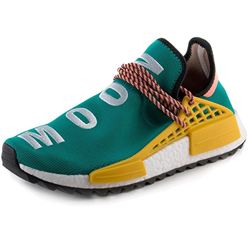 Fashion Sneaker Shoes Human Sun Casual Clouds Green Glow Men Race Trail Breathable Women Yellow Moon Lightweight qXx7wnA8z