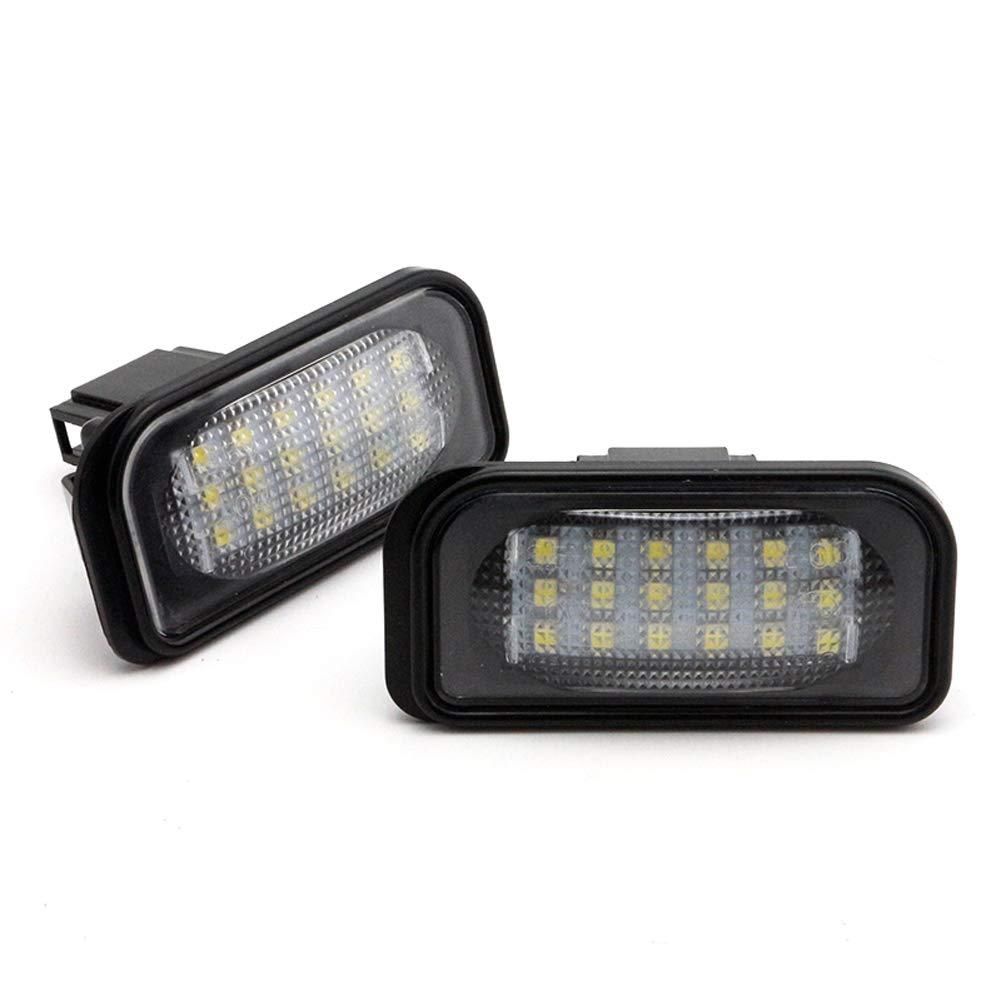 omufipw 2pcs 18SMD LED Feux de Plaque dimmatriculation Lampe pour Mercedes Classe C W203 Berline SL-Classe R230 Classe CLK W209 C209 A209