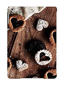 Hot GEeCWXA8961irSkz Case Cover Protector For Ipad Air- Heart Shaped Cookies/ Special Gift For Lovers