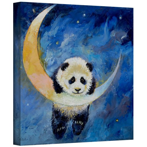 Panda Canvas Reproduction - ArtWall Panda Stars Gallery Wrapped Canvas Art by Michael Creese, 24 by 24-Inch