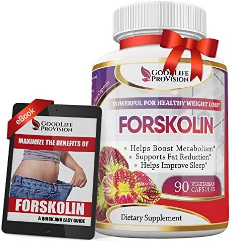 100% Pure Forskolin Extract Supplement – Best Premium Natural Fuel Complex to Help Slim Down & Lose Weight Now, Support Healthy Diet - 250 mg Weight Loss Pills - 90 Day Cleanse Veggie Capsules