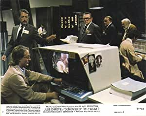 Demon Seed POSTER Movie (1977) Style B 11 x 14 Inches - 28cm x 36cm (Julie Christie)(Fritz Weaver)(Gerrit Graham)(Berry Kroeger)(Ron Hays)(Lisa Lu)(Larry J. Blake)