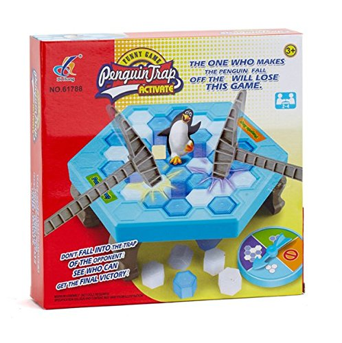 Save Penguins On Ice Game,SS Penguin Trap Activate,Funny Family Party Ice Breaker Kids Puzzle Table Knock Block