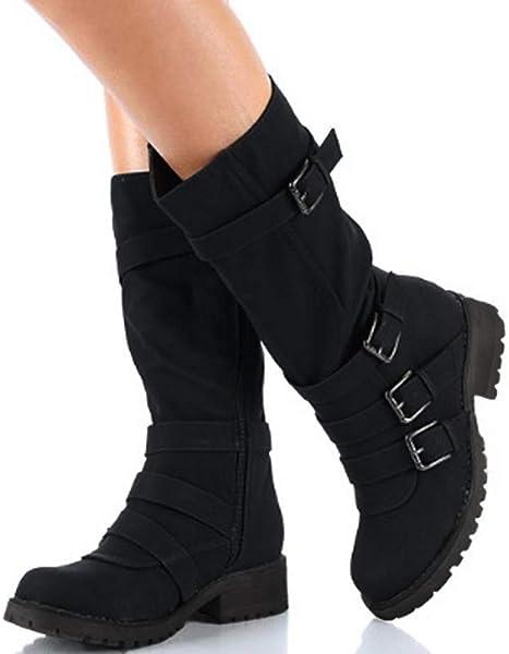 de220491e683 Shybuy Mid Cuff Boots