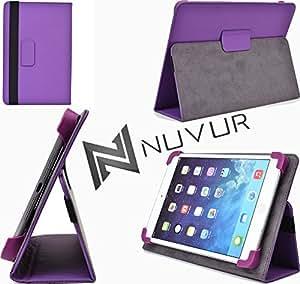 Purple / Adjustable Stand Cover Case Huawei MediaPad 7 Lite NuVur &153;  MU08EXU1 