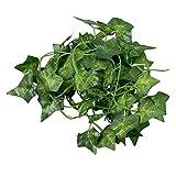 SODIAL(R) 2M 6.6 Feet Artificial Ivy Fake Foliage Leaf Flowers Plants Garland Garden Decoration 2M (Sweet potato leaf)