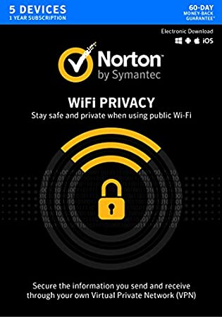 Norton WiFi Privacy VPN - 5 Devices [Key Card]
