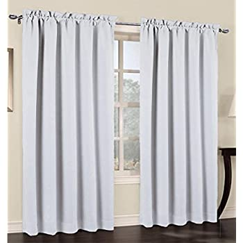 urbanest 54 inch wide by 84 inch long blackout set of 2 curtain panels off white. Black Bedroom Furniture Sets. Home Design Ideas