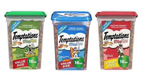 TEMPTATIONS MixUps Treats for Cats Variety Bundle ()