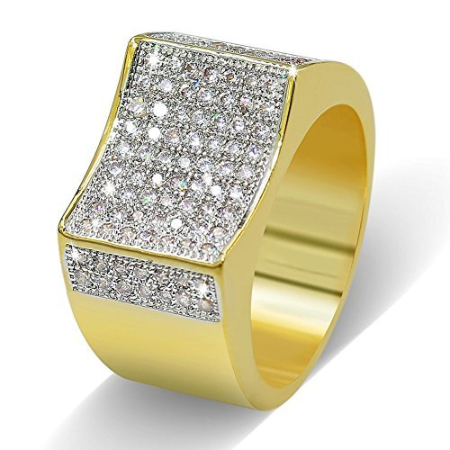 TOPGRILLZ 18K Hip Hop CZ Iced Out Micro Pave Gold Plated Mens Bling Punk Rings (7)