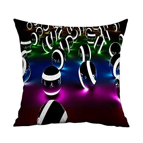 TXEWA Pillowcases Bulk D Digital Art W23.8 x L23.8,Throw Pillows Farmhouse