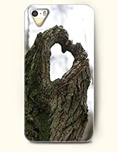 SevenArc Phone Case for Apple iPhone 5 5S (NOT COMPATIBLE WITH iPhone 5C) -- A Natural Heart -- Love Expression