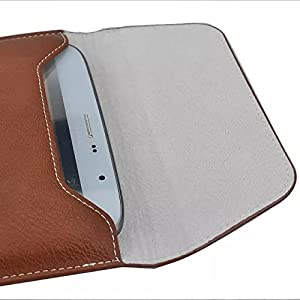 "Sumaclife Universal 8"" PU Leather Case for 7 to 8 Inch Tablet/ Notebook/ iPad (Leather Brown)"