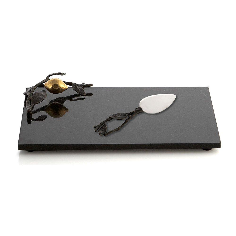 Michael Aram Lemonwood Cheese Board with Knife, Multicolor