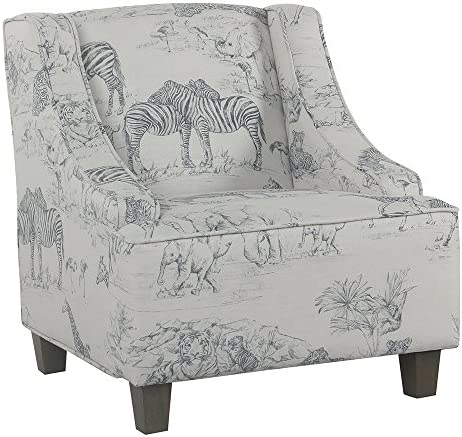 HomePop Youth Upholstered Swoop Arm Accent Chair