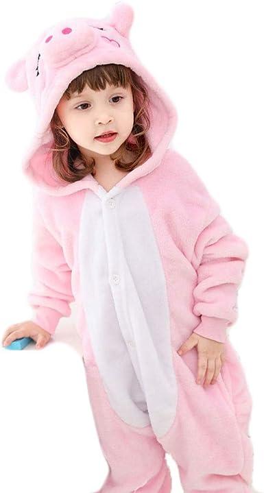 Pijamas de Animales para niños Niños Pink Pig Animal Unisex ...