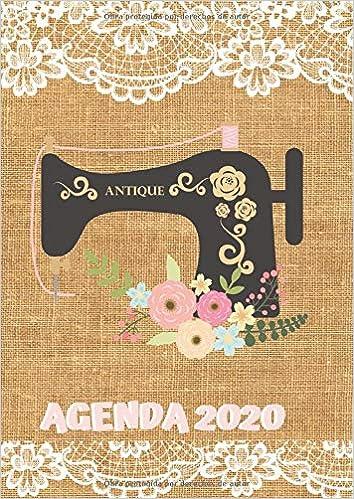 Agenda 2020: Tema Costura Agenda Mensual y Semanal + ...