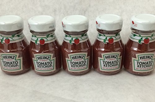 Heinz Ketchup 2.25 Oz Glass Miniatures - (5) Bottles