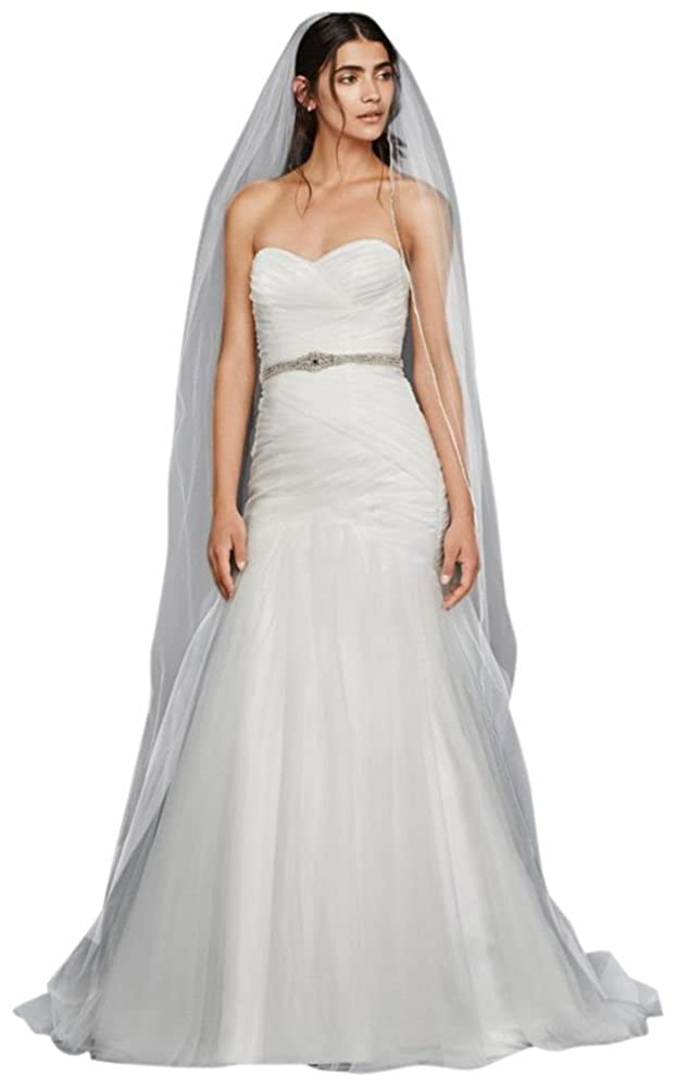 Strapless Ruched Mermaid Tulle Wedding Dress Style Wg3791 At Amazon