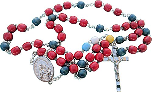 MedjugorjeOnlineShop Chaplet for the Holy Souls in Purgatory Rosary made of Wooden Wood