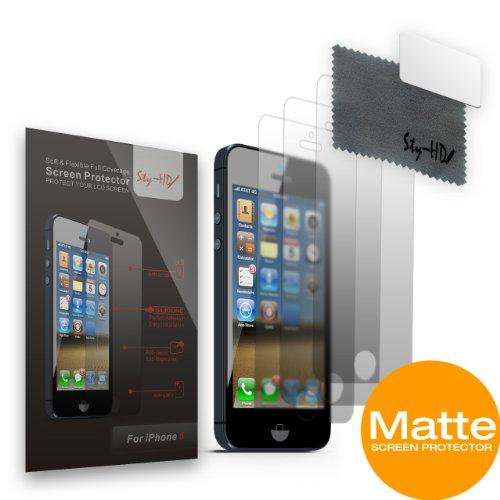 Sty-HD iPhone 5 5s 5c Premium Screen Protectors 3 Pack - Full Retail Packaging (Matte)