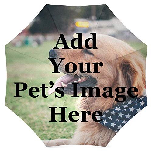 FavorPlus-Umbrella Pet Dog Cat Photo Image Picture DIY Personalized Custom Design Sun/Rain All Wheather Foldable Umbrella Gifts