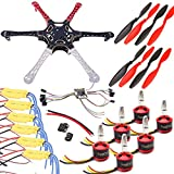 550mm F3 Naze32 Hexacopter Drone Kit with 2212 Brushless Motors 30A BLHeli ESC 2-3S 1045 Propellers and Flight Controller