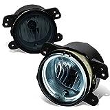 dodge charger srt bumper - Dodge / SRT Charger LD Pair of Bumper Halo Ring Fog Lights + CCFL Power Inverter (Smoked Lens)