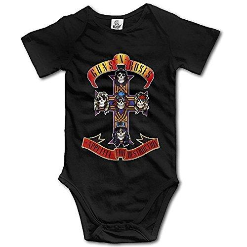 Guns N Roses Appetite Cross Infant Baby Romper ()
