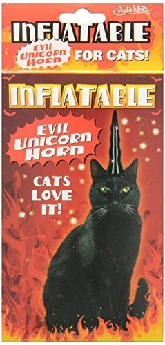 Accoutrements Inflatable Evil Unicorn Horn for Cats (Unicorn Horns)